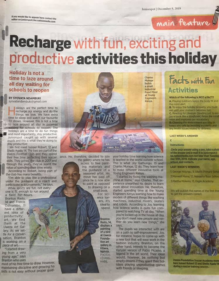 Uweza Feature in Daily Nation