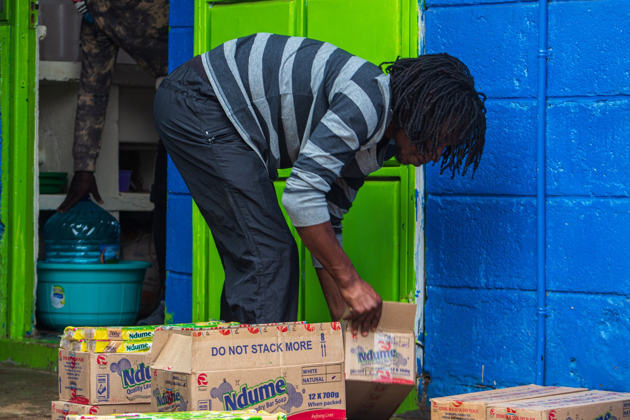 Door-To-Door Free Soap Distribution To Soccer Players And Their Families.